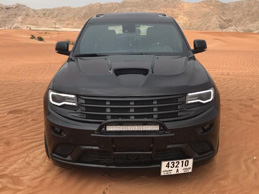 Stunning black Jeep Grand Cherokee from Dubai!